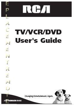 Buy RCA 27F501TDVOM 27F500TDV 27F501TDV Operating Manual
