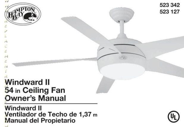 Hampton bay ceiling fans instruction manuals boatylicious hampton bay 54shrlom 54shrl operating manual mozeypictures Images