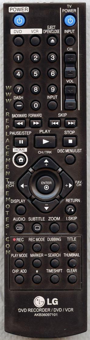 Buy LG AKB36097101 DVD Recorder (DVDR) Remote Control