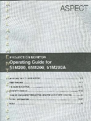 Buy/Download HITACHI 51M200 51M200A 65M200 Operating Manual
