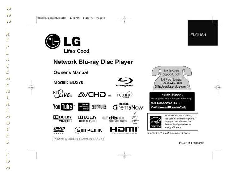 Buy LG BD370OM BD370 Operating Manual