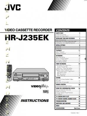 Buy JVC HRJ235EKOM HRJ235EK Operating Manual