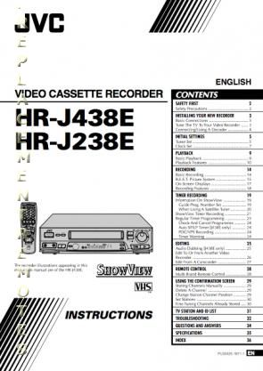 Buy JVC HRJ238EOM HRJ238E HRJ438E Operating Manual