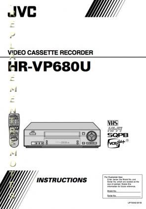 Buy JVC HRVP680UOM HRVP680 HRVP680U HRVP682U Operating Manual