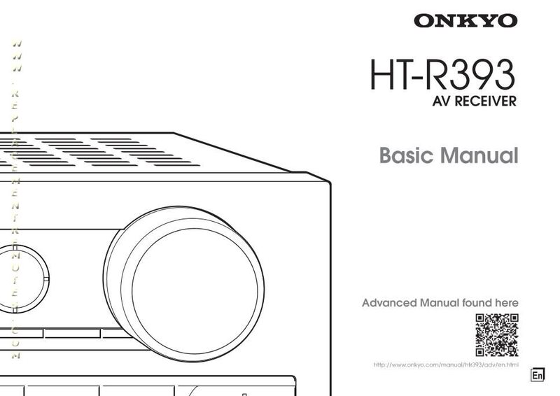 Buy ONKYO HTR393om HTR393 HTS3700 Operating Manual