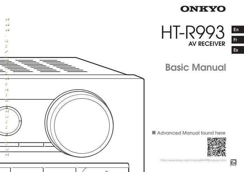 Buy ONKYO HTR993om HTR993 HTS9700THX Operating Manual