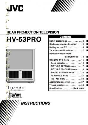 Buy/Download JVC HV29LPZ HV34LPZ HV53PRO Operating Manual