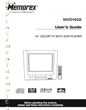 Buy MEMOREX MVD1402OM MVD1402 Operating Manual