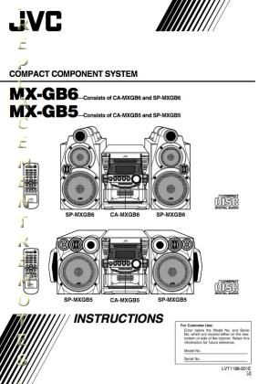 Buy JVC MXGB6OM MXGB5 MXGB6 SPMXGB5 Operating Manual