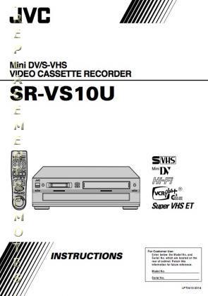 Buy JVC SRVS10UOM SRVS10U Operating Manual