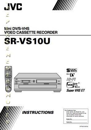 Buy JVC SRVS10UOM SRVS10U Operating Manual