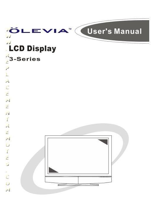 Buy/Download Olevia 323S11 323S13 323V Operating Manual