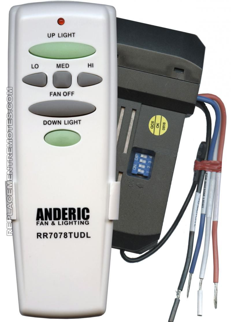 remote control ceiling fan wiring diagram hair follicle skin buy anderic universal up/down light kit -rr7078tudlkit