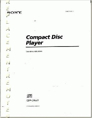 Buy SONY CDPCX681OM CDPCX681 Operating Manual