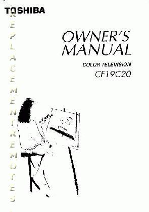 Buy TOSHIBA CF19C20OM CF19C20 Operating Manual
