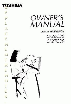 Download FREE TOSHIBA CF26C30 CF27C30 Operating Manual
