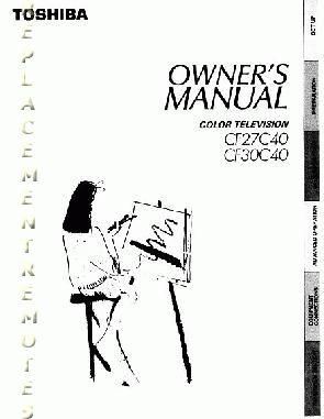 Buy TOSHIBA cf27c40OM CF27C40 CF30C40 Operating Manual
