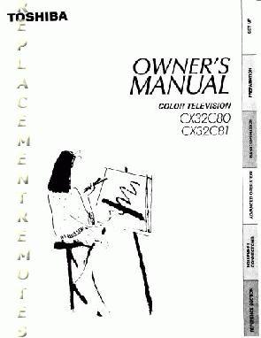 Buy TOSHIBA CX32C80OM CX32C80 CX32C81 Operating Manual