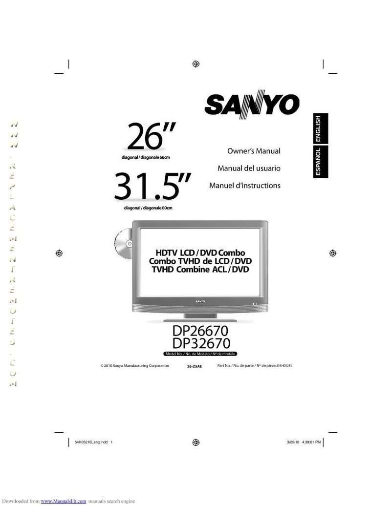 Buy SANYO DP26670OM DP26670 Operating Manual