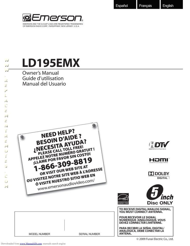 Buy EMERSON LD195EMXOM LD195EMX Operating Manual