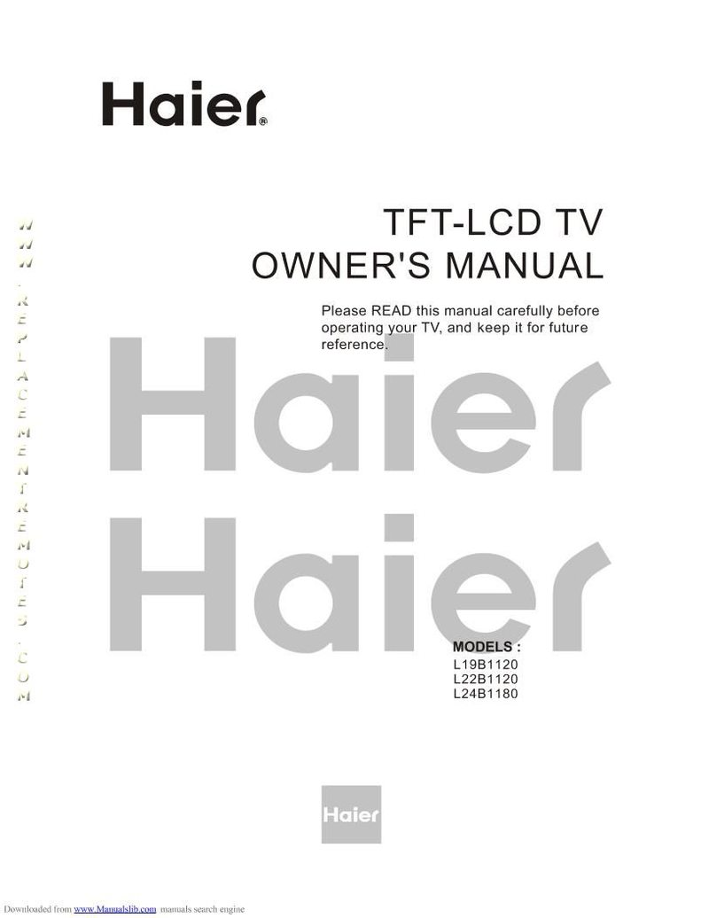 Buy Haier L19B1120OM L19B1120 Operating Manual