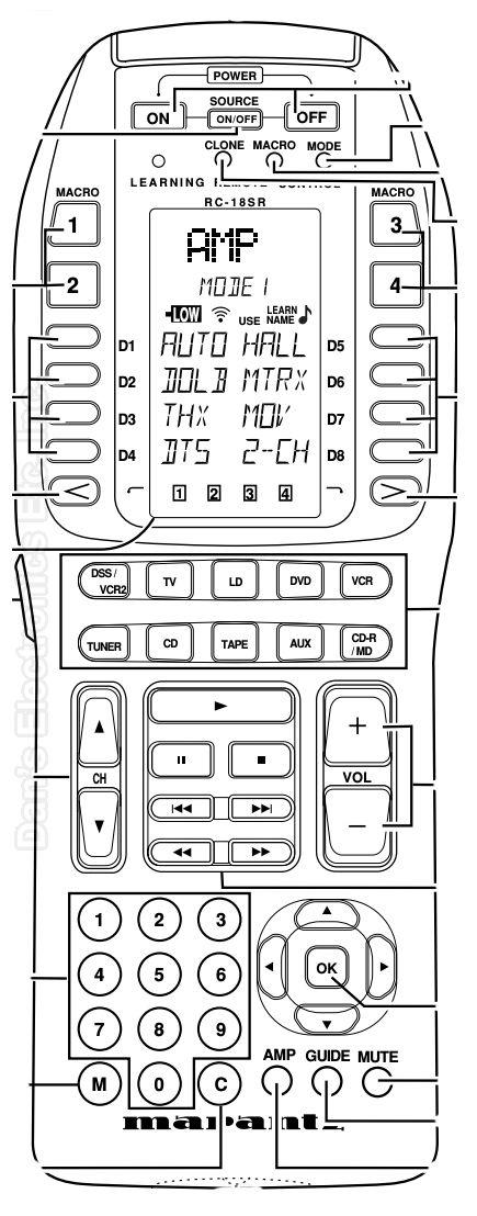 Buy MARANTZ RC18SR Tuner Remote Control