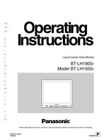 Panasonic TV Operating Manuals Operating Manuals