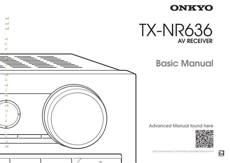 Buy ONKYO TXNR636OM TXNR636 Operating Manual
