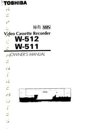 Buy/Download TOSHIBA W511 W512 Operating Manual