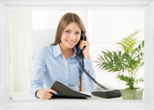 An image of a woman on the phone