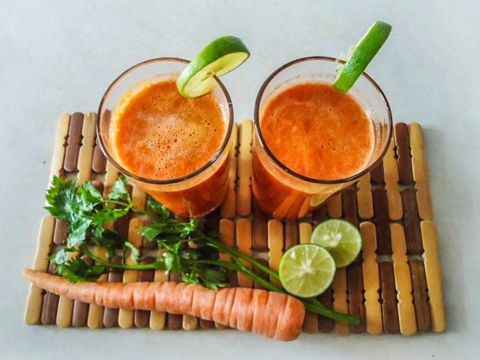 Image of carrot, cilantro and lime juice