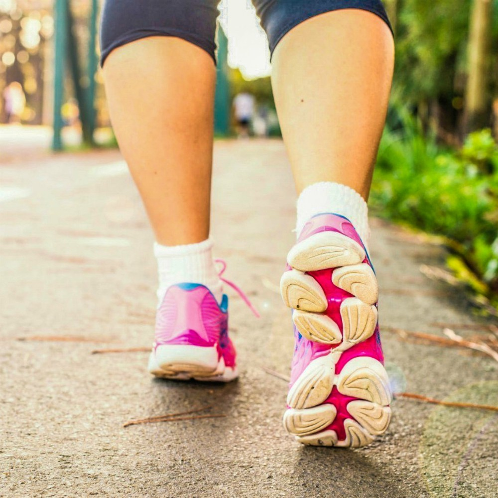 An image of a woman walking for exercise