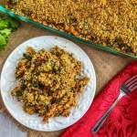 An image of Mexican Pasta Bake with Kale.