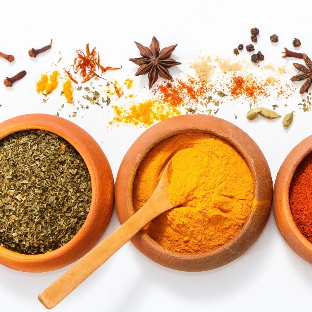 An image of dried herbs and spices.