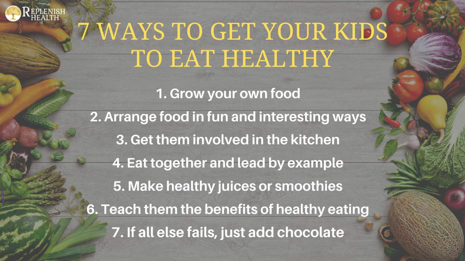 An image of 7 Ways To Get Your Kids To Eat Healthy