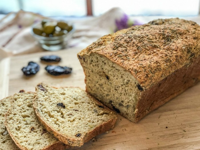 An image of a loaf of Sun-dried Tomato, Olive, Garlic Bread (Gluten-Free)