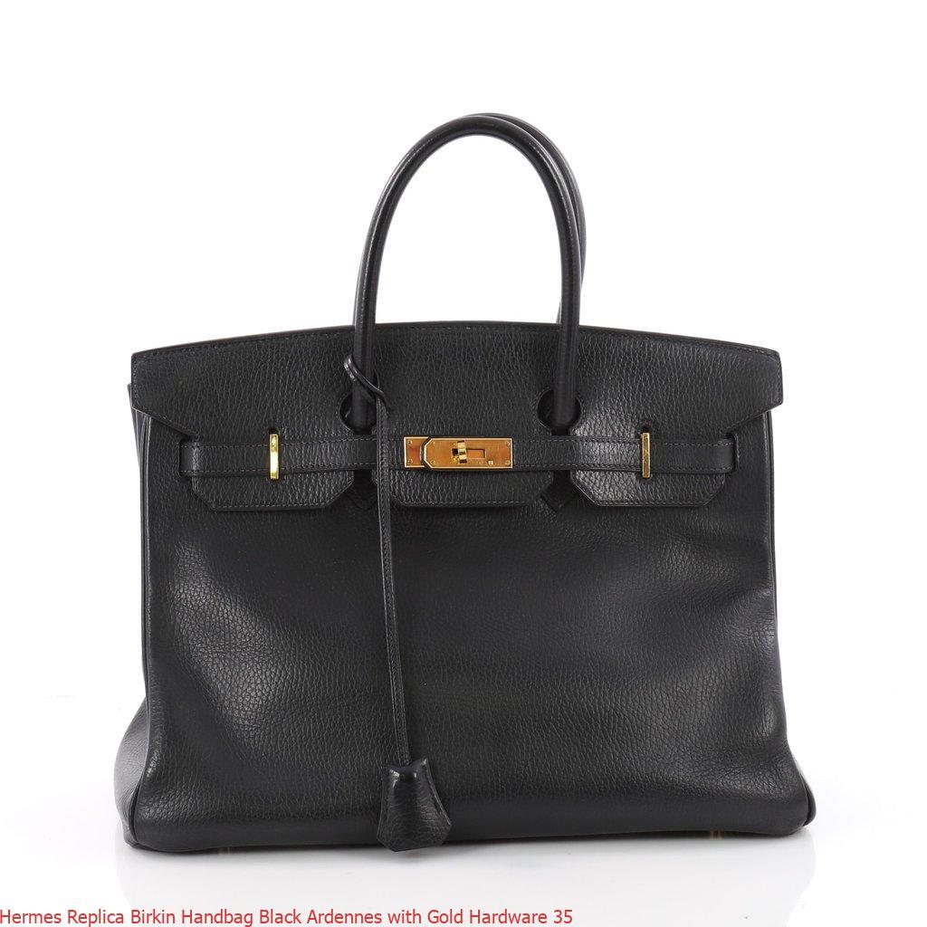 Hermes Replica Birkin Handbag Black Ardennes with Gold Hardware 35 – Replica Hermes Birkin Handbags. Elegant Replica Hermes Birkin Bags For Sale