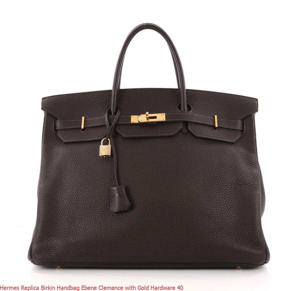 Hermes Replica Birkin Handbag Ebene Clemence with Gold Hardware 40 – Replica Hermes Birkin Handbags. Elegant Replica Hermes Birkin Bags For Sale