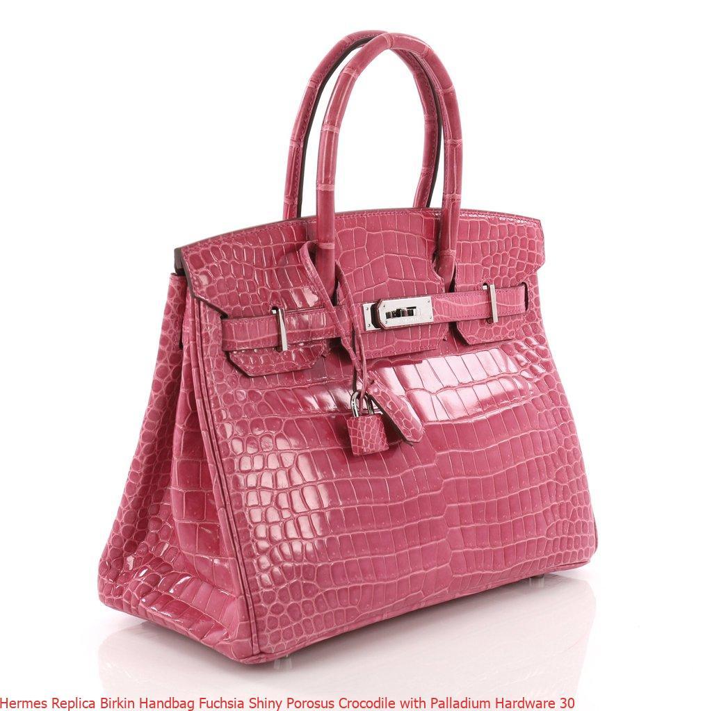 Hermes Replica Birkin Handbag Fuchsia Shiny Porosus Crocodile with Palladium Hardware 30 – Replica Hermes Birkin Handbags. Elegant Replica ...