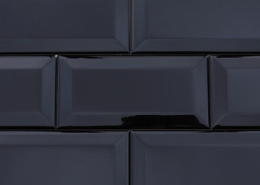 Wandfliese METRO Farbe schwarz deckend von Replicata