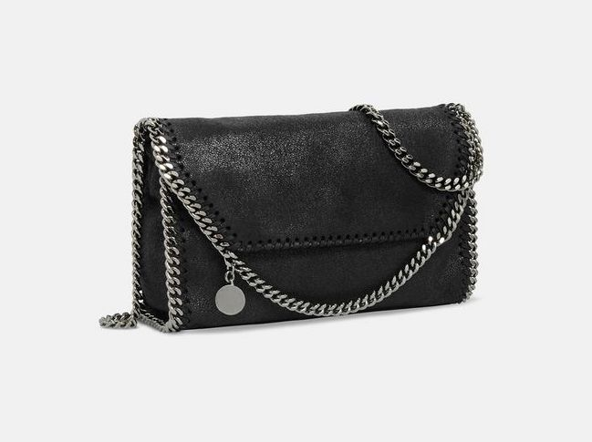 Stella McCartney Black Falabella Shaggy Deer Mini Bag autumn