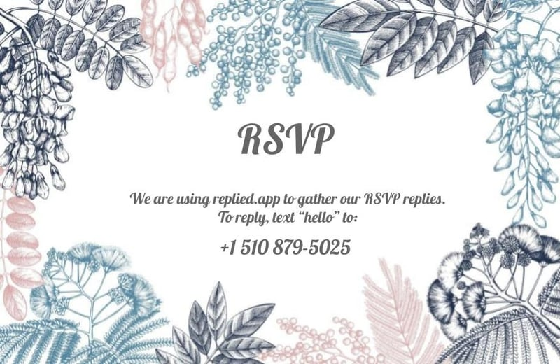 how to rsvp by text message from a