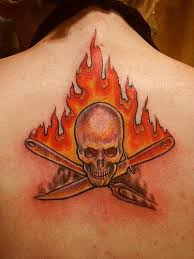 tatouage flamme
