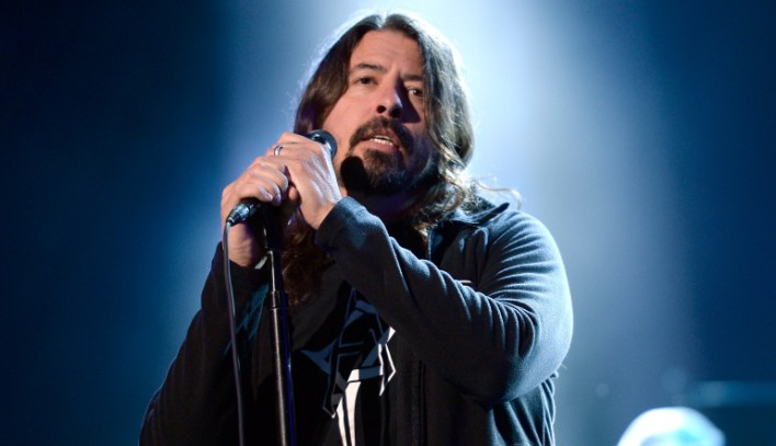 LOS ANGELES, CA - FEBRUARY 12: Musician Dave Grohl rehearses onstage during the 2016 MusiCares Person Of The Year honoring Lionel Richie at Los Angeles Convention Center on February 12, 2016 in Los Angeles City.  (Photo by Kevork Djansezian/WireImage)
