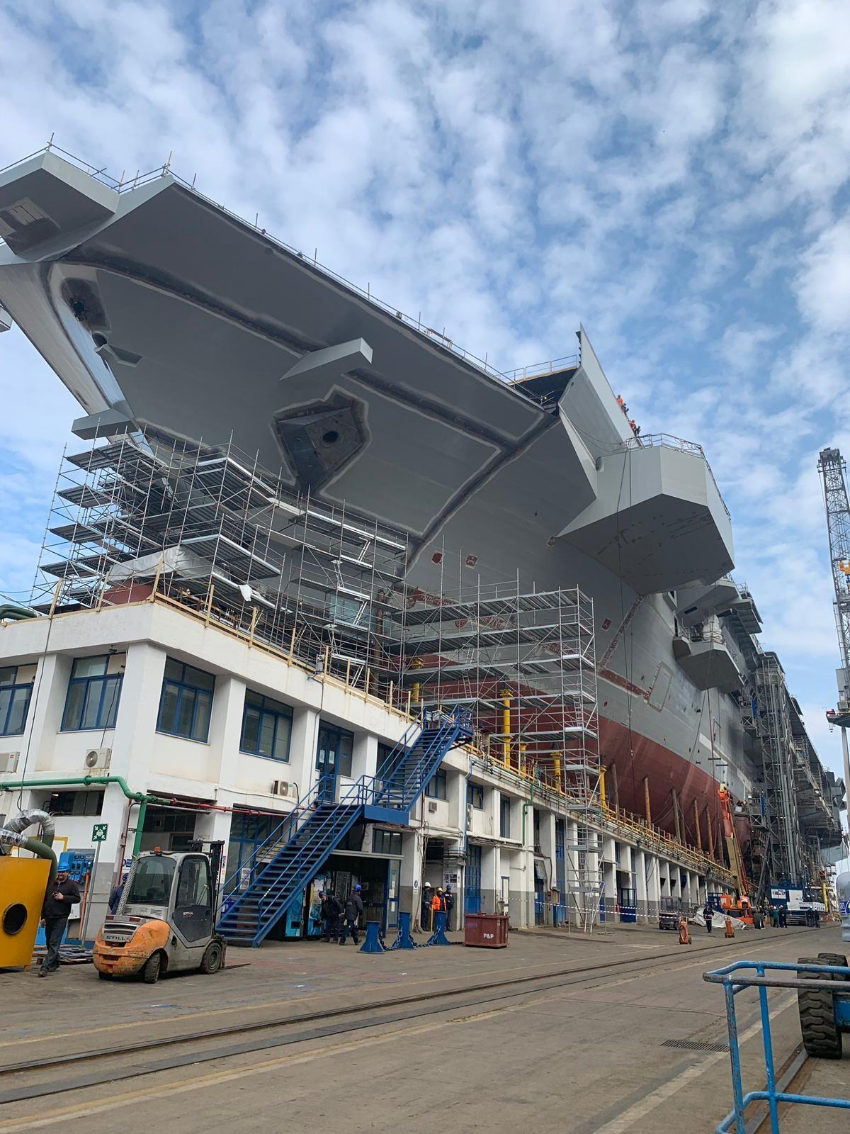 Marina Militare a Castellamare di Stabia in costruzione