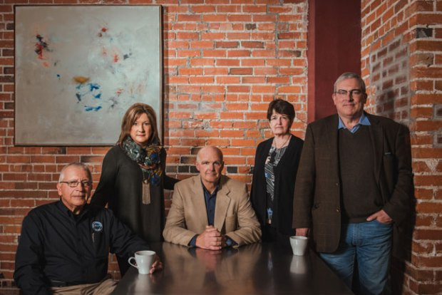 Larimer County Mayors (from L to R): Steve Mulvihill, Former Mayor of Berthoud; Jill Grossman-Belisle, Mayor of Timnath; Todd Jirsa, Mayor of Estes Park; Jacki Marsh, Mayor of Loveland; Wade Troxell, Mayor of Fort Collins. ((Photo courtesy: Larimer County Mental Health))