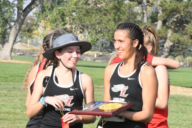 Loveland freshman Elena Torres (left) and ...
