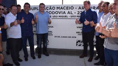 Photo of Marx Beltrão e Renan Filho inauguram duplicação do 1º trecho da AL-220