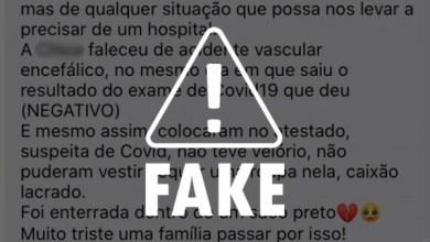 Photo of FAKE NEWS: hospitais não registram indiscriminadamente vítimas de acidentes como casos de Covid-19
