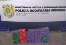 Photo of ALAGOAS: PRF apreende mais de 50kg de pasta base de cocaína, na BR 101